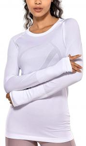 girl modeling compression shirt