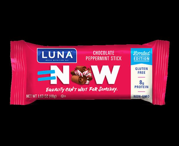 Luna chocolate peppermint stick bar