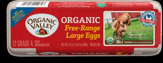 Free range eggs box