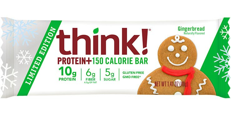 think gingerbread protein bar