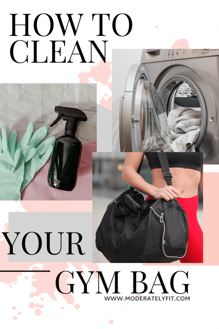 How to clean your gym bag pinterest image