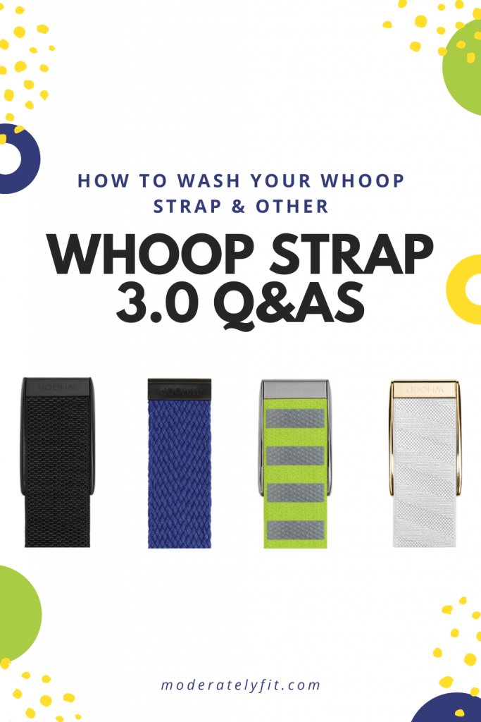 How to wash your whoop strap and other whoop strap 3.0 Q&As - pinterest pin