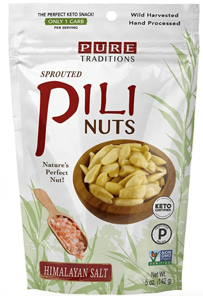 Pure traditions sprouted pili nuts