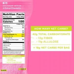 SmartSweets nutrition label