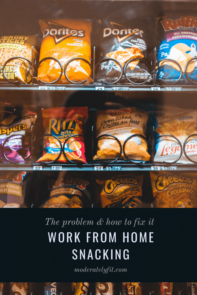 The problem and how to fix it - work from home snacking - vending machine - Pinterest pin