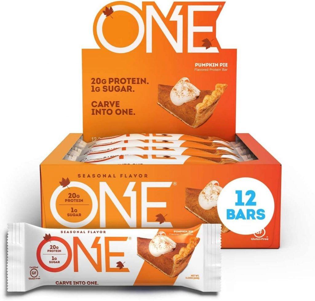 One bars - pumpkin pie