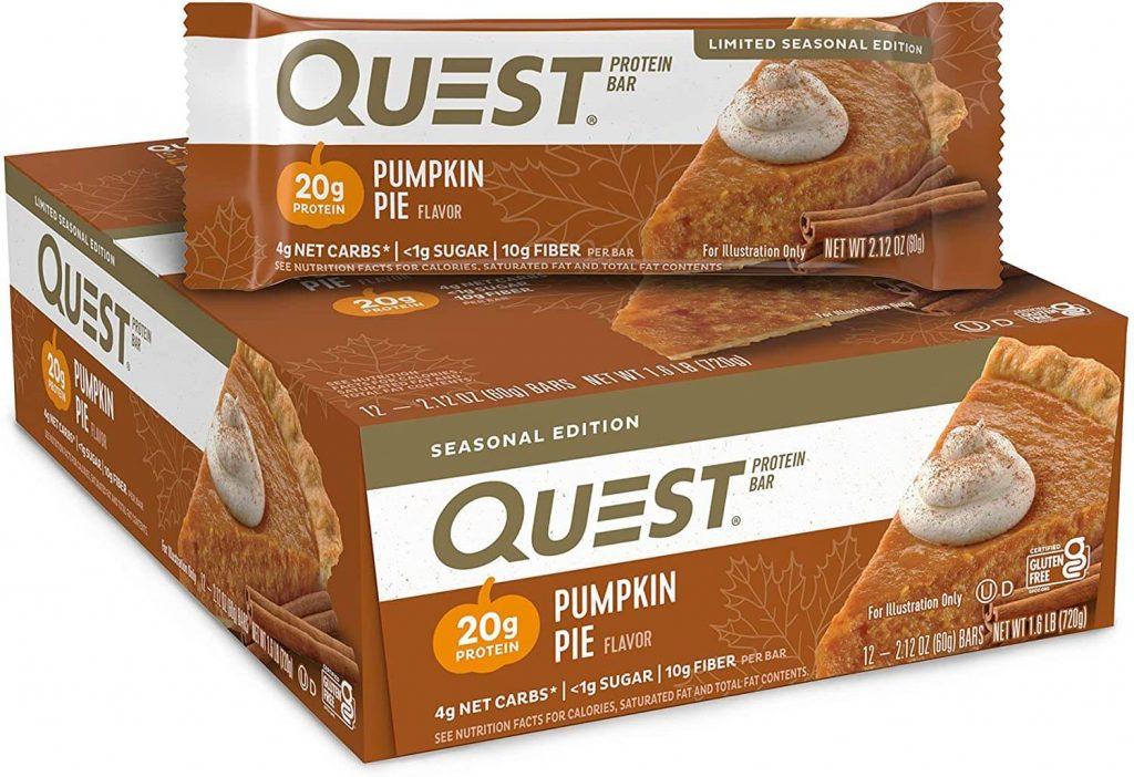 Quest nutrition protein bar - pumpkin pie