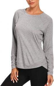 Muzniuer Womens Long Sleeve Workout Shirt